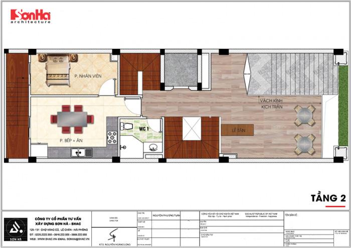 Bản vẽ mặt bằng công năng tầng 2 khách sạn kiến trúc tân cổ điển đẹp 2 sao mini