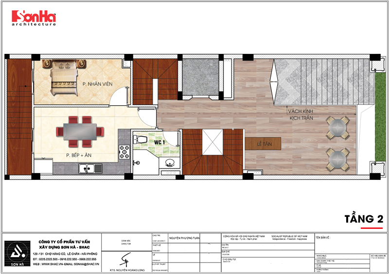 Thiết kế khách sạn mini 2 sao tân cổ điển đẹp tại Nam Định - SH KS 0061 5