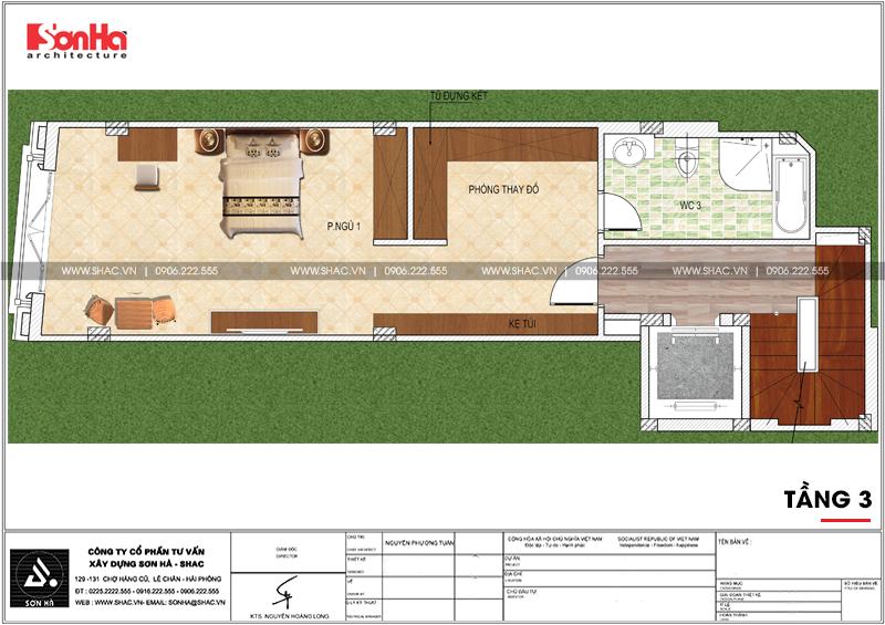 Mẫu nhà phố hình chữ L kiến trúc Pháp kết hợp kinh doanh tại Hà Nội - SH NOP 0168 5