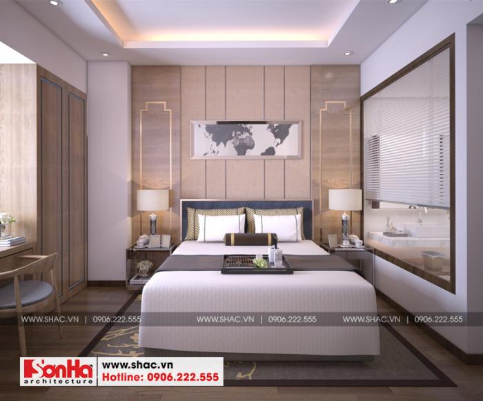 Mẫu phòng ngủ khách sạn đẹp với giường đơn và nội thất bố trí ngăn nắp