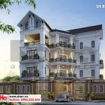 5 Thiết kế biệt thự 4 tầng tân cổ điển tại hải phòng sh btp 0123