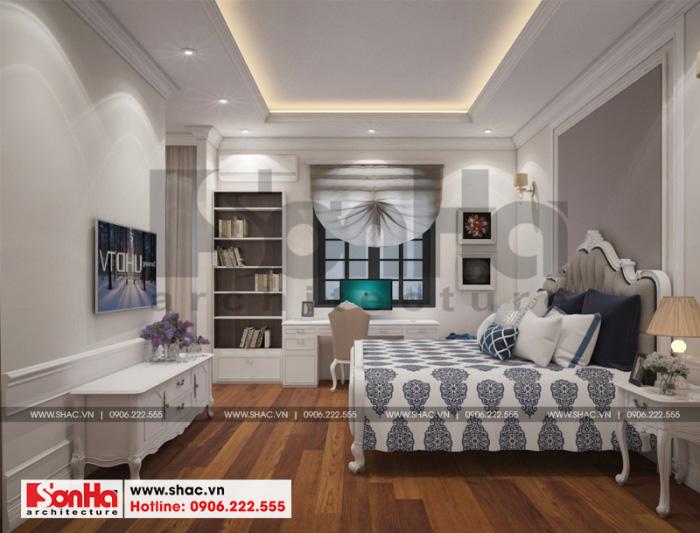 Thiết kế nội thất phòng ngủ đẹp biệt thự tân cổ điển khu đô thị Vinhomes Imperia