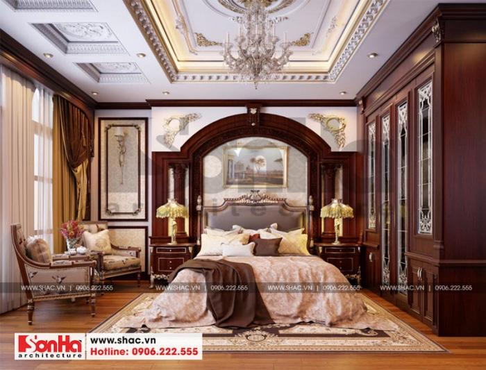 Mẫu phòng ngủ đẹp phong cách tân cổ điển đẹp với đồ nội thất gỗ ấm cúng
