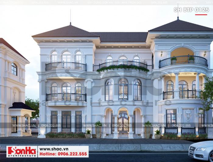 Mẫu biệt thự đẹp kiến trúc tân cổ điển 3 tầng sân vườn phân khu VENICE