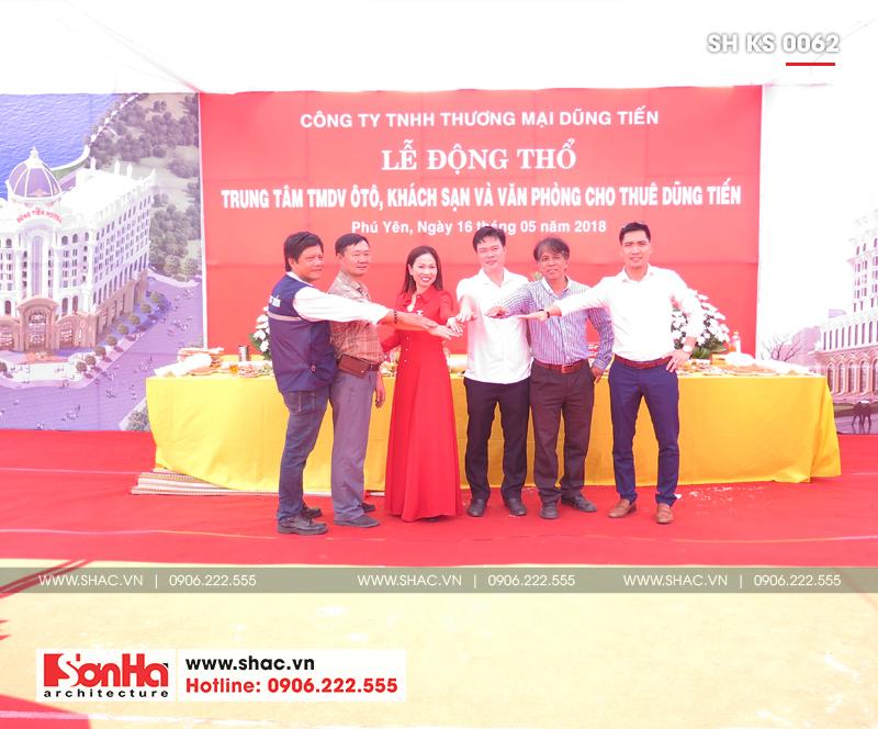 Tỉnh Phú Yên động thổ thêm một dự án trọng điểm của năm – dự án Trung tâm TMDV ô tô, khách sạn và văn phòng cho thuê Dũng Tiến do Sơn Hà Architecture thiết kế – SH KS 0062 21