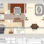 6 Mặt bằng công năng tầng 2 biệt thự cổ điển mặt tiền 9m tại quảng ninh sh btp 0126