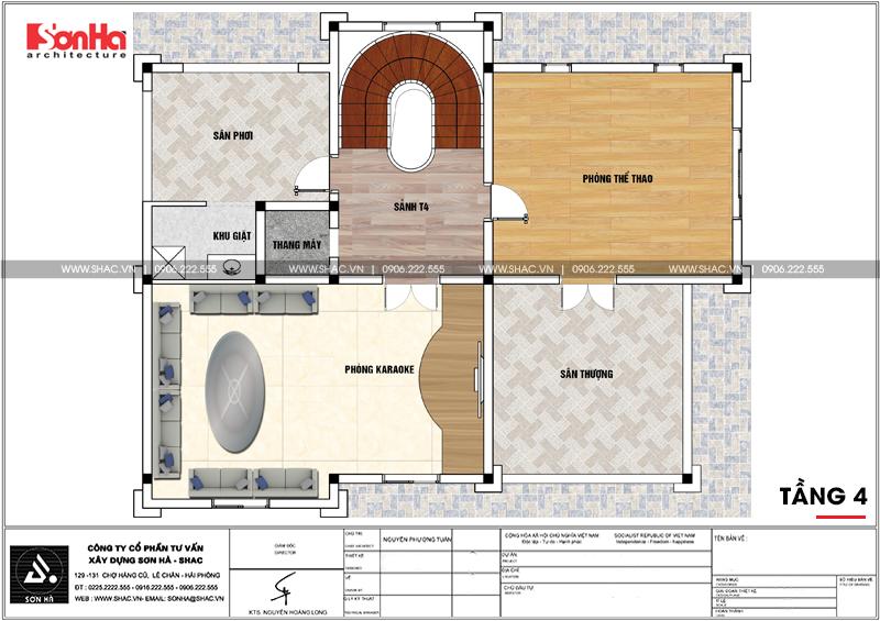 Biệt thự lâu đài châu Âu 4 tầng diện tích 175m2 tại Đà Nẵng – SH BTLD 0038 6