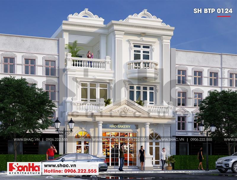 Biệt thự kiểu Pháp 3 tầng kết hợp kinh doanh diện tích 162m2 tại Quảng Ninh – SH BTP 0124 1