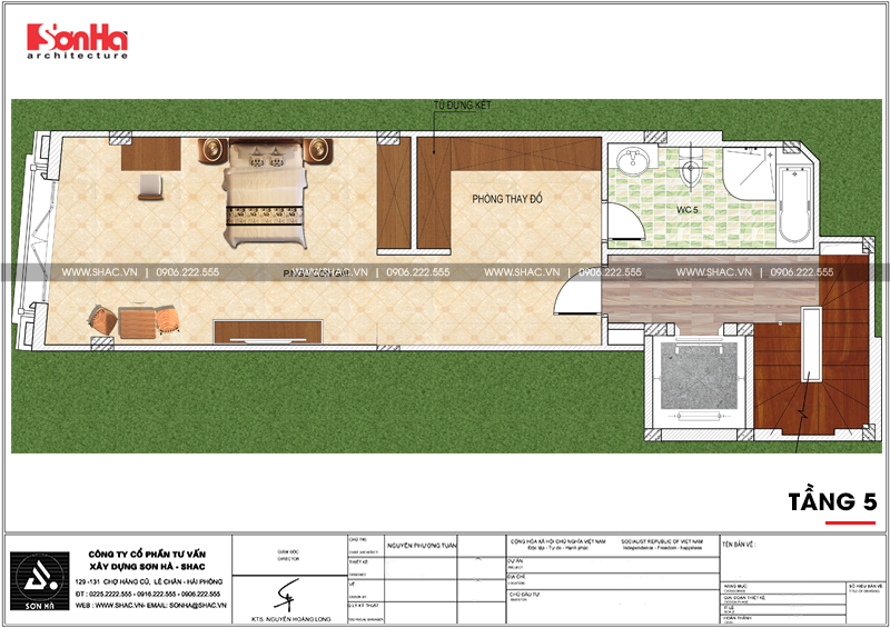 Mẫu nhà phố hình chữ L kiến trúc Pháp kết hợp kinh doanh tại Hà Nội - SH NOP 0168 7