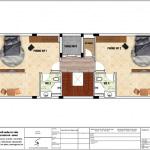 7 Mặt bằng công năng tầng 7 khách sạn mini tân cổ điển 8 tầng tại nam định sh ks 0061