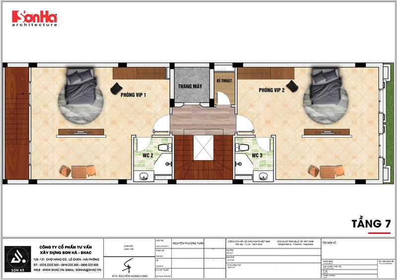 Thiết kế khách sạn mini 2 sao tân cổ điển đẹp tại Nam Định - SH KS 0061 7