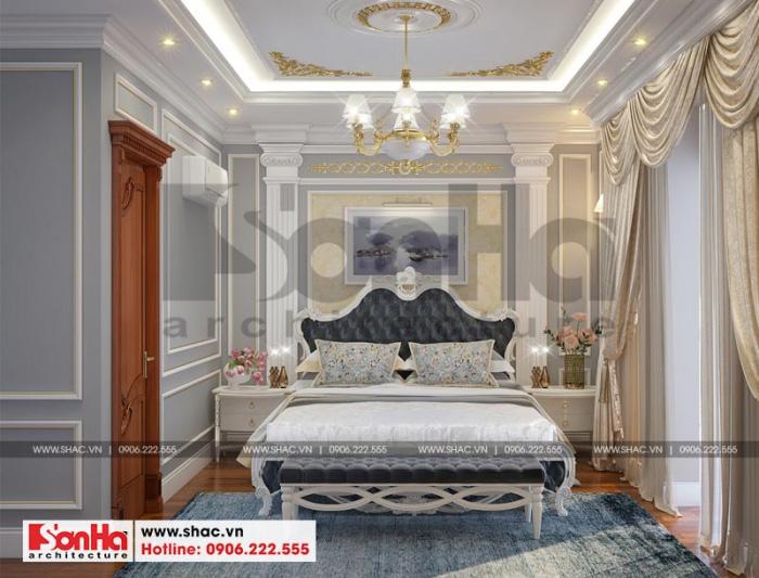 Thêm một ý tưởng thiết kế nội thất phòng ngủ đẹp mắt cho biệt thự tân cổ điển