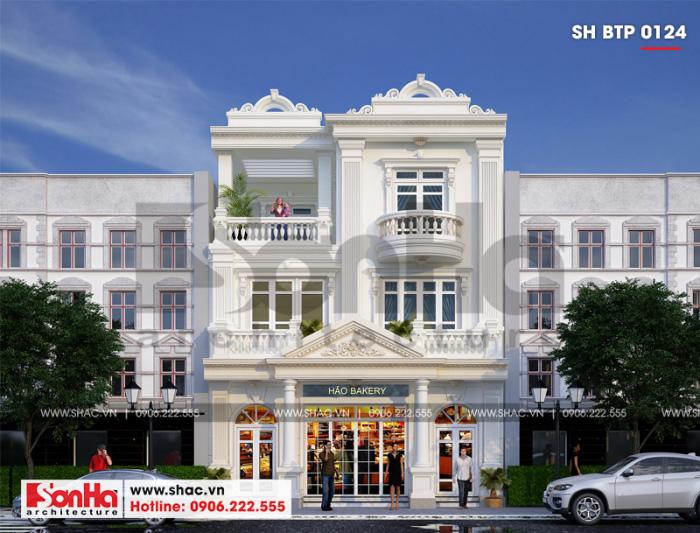 Mẫu biệt thự kiểu Pháp đẹp 162m2 kết hợp kinh doanh 3 tầng tại Quảng Ninh