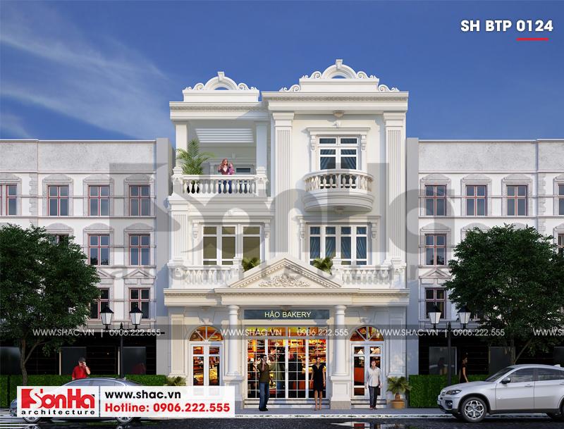 Biệt thự kiểu Pháp 3 tầng kết hợp kinh doanh diện tích 162m2 tại Quảng Ninh – SH BTP 0124 2