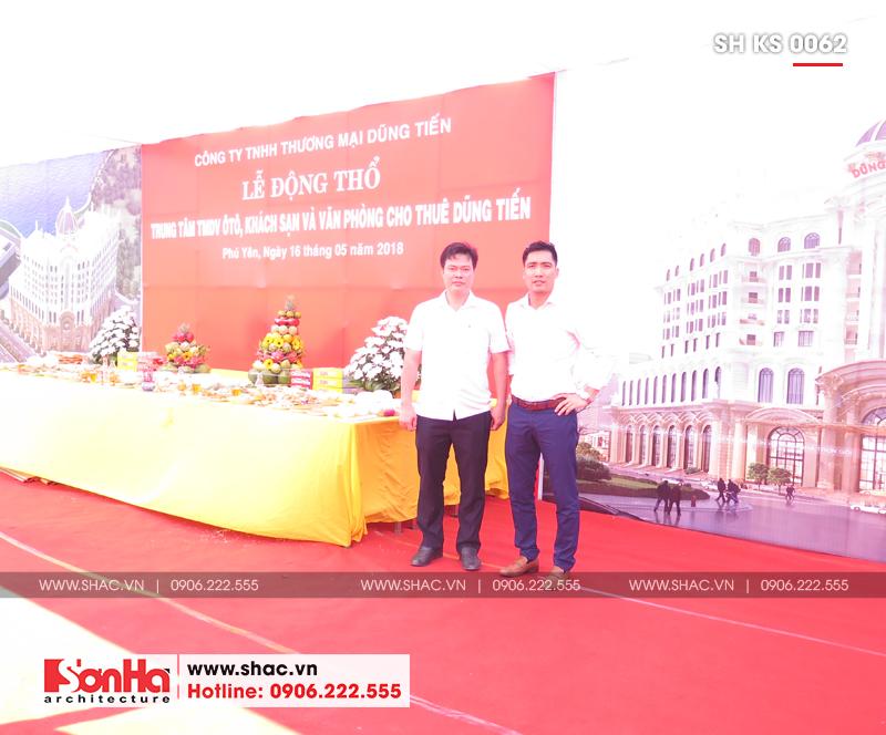 Tỉnh Phú Yên động thổ thêm một dự án trọng điểm của năm – dự án Trung tâm TMDV ô tô, khách sạn và văn phòng cho thuê Dũng Tiến do Sơn Hà Architecture thiết kế – SH KS 0062 23