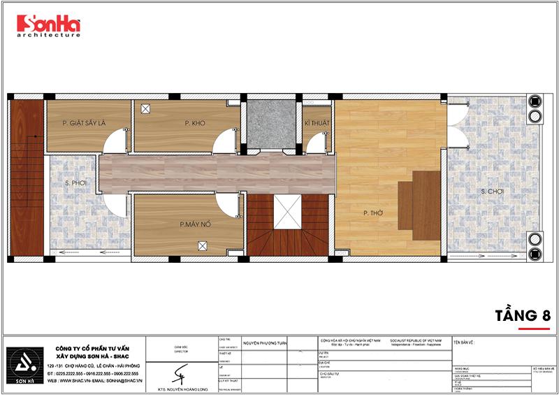 Thiết kế khách sạn mini 2 sao tân cổ điển đẹp tại Nam Định - SH KS 0061 8