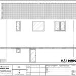 8 Mặt đứng trục 4 1 biệt thự mái thái có hồ bơi tại hải phòng sh btd 0066
