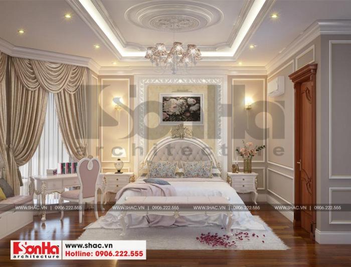 Mẫu thiết kế phòng ngủ đẹp với gam màu thanh nhã sang trọng phong cách châu Âu