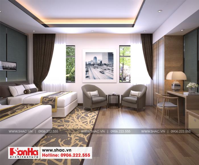 Nội thất phòng ngủ khách sạn tân cổ điển 2 sao thiết kế đẹp và sang trọng