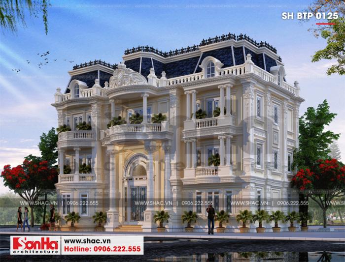 Mẫu thiết kế biệt thự song lập phong cách tân cổ điển châu Âu tại Hải Phòng
