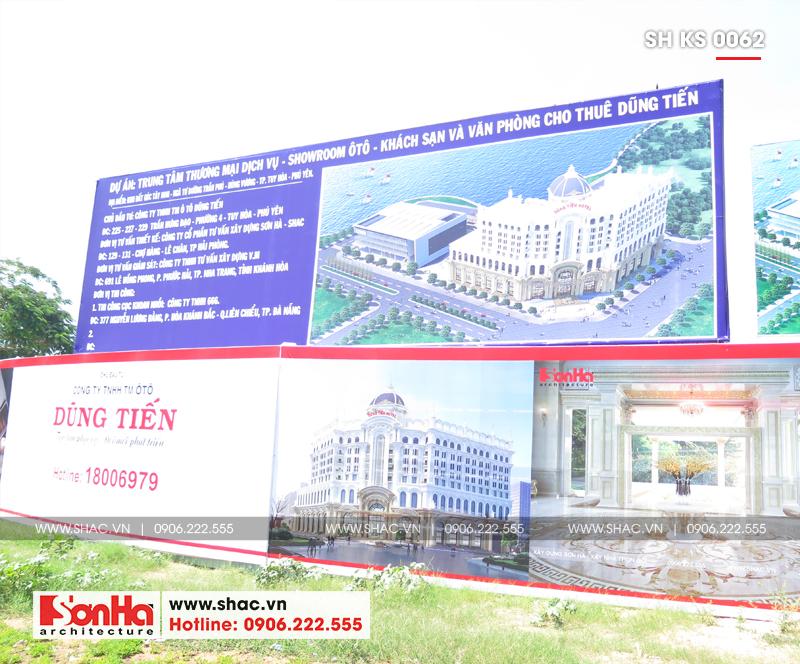 Tỉnh Phú Yên động thổ thêm một dự án trọng điểm của năm – dự án Trung tâm TMDV ô tô, khách sạn và văn phòng cho thuê Dũng Tiến do Sơn Hà Architecture thiết kế – SH KS 0062 17