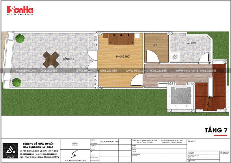 Mẫu nhà phố hình chữ L kiến trúc Pháp kết hợp kinh doanh tại Hà Nội - SH NOP 0168 9
