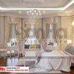 9 Thiết kế nội thất phòng ngủ 3 biệt thự tân cổ điển có sân vườn khu đô thị vinhomes hải phòng sh btp 0125