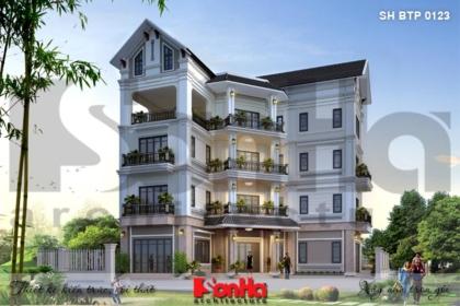 BÌA mẫu thiết kế biệt thự tân cổ điển 4 tầng tại hải phòng sh btp 0123