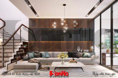 BÌA nội thất nhà phố liền kề 4 tầng khu đô thị pg an đồng hải phòng
