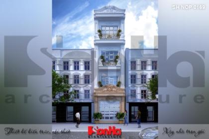 BÌA thiết kế nhà ống cổ điển 4 tầng đẹp tại hà nội sh nop 0169