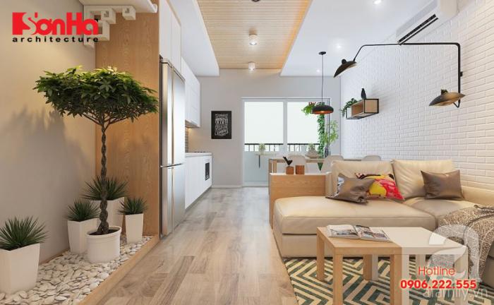 Chắc hẳn bạn cũng sẽ bị thuyết phục bởi thiết kế phòng khách căn hộ này