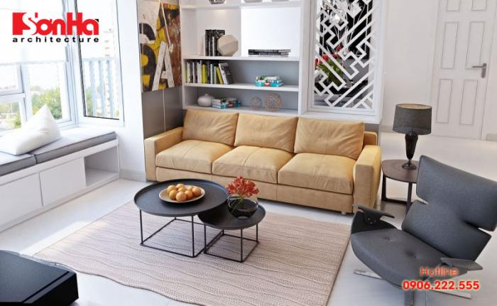 Giản dị nhưng tinh tế là yếu tố chính trong cách trang trí phòng khách này
