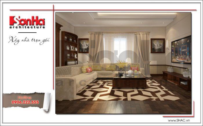 Mẫu thiết kế phòng khách diện tích 26m2 được yêu thích bởi nhiều chủ đầu tư