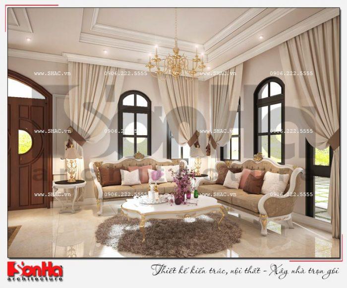 Phòng khách 20m2 được xây dựng tương đối nhiều bởi hầu hết biệt thự đẹp
