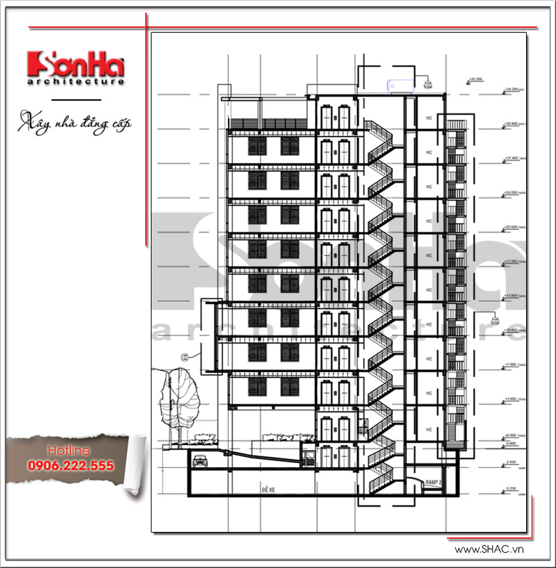 Tiêu chuẩn thiết kế buồng thang bộ không nhiễm khói loại N1