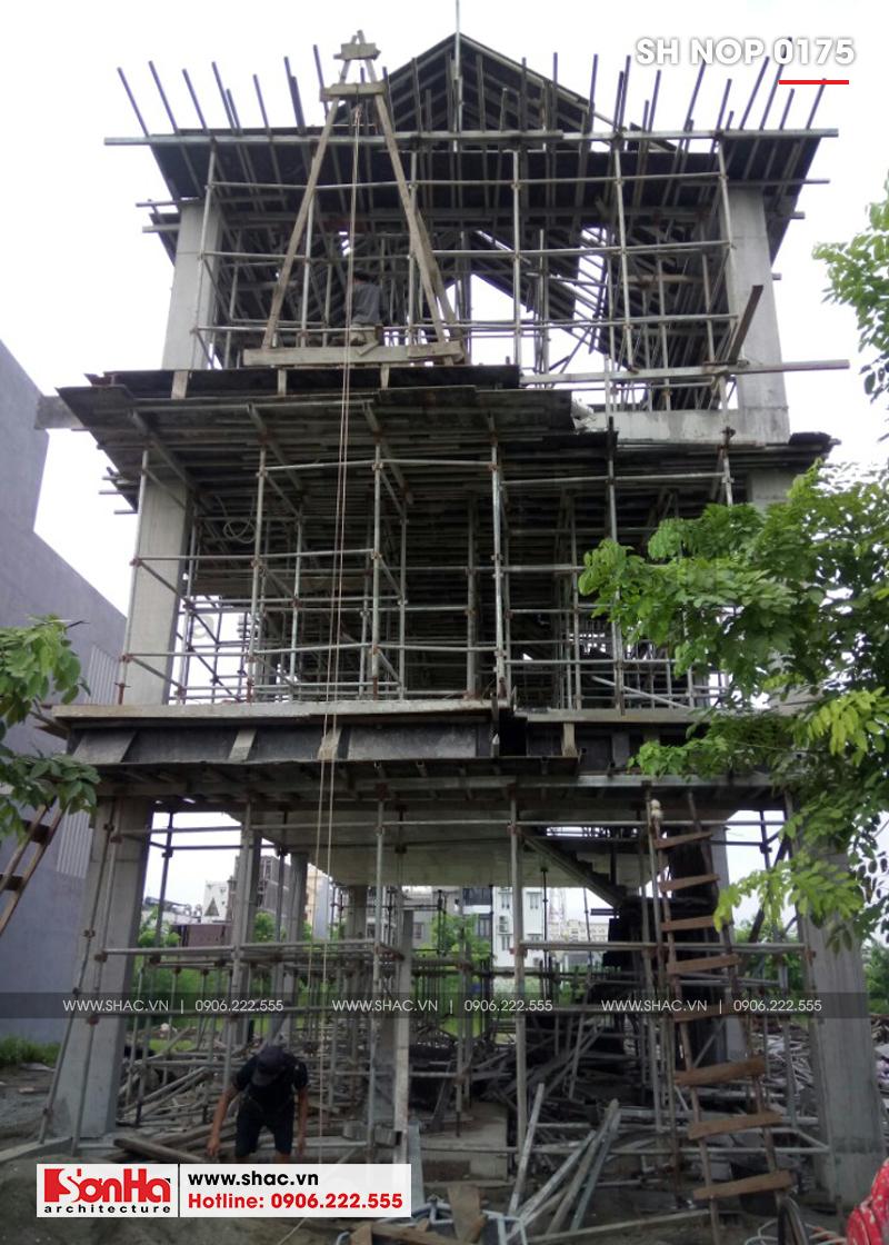 Mẫu nhà ống kiểu Pháp 3 tầng có gara ô tô tại Hải Phòng - SH NOP 0175 15