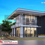 1 Thiết kế biệt thự hiện đại mini 2 tầng tại hải phòng sh btd 0067