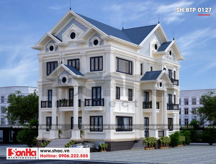 Ngôi biệt thự mái thái 3 tầng phong cách tân cổ điển hạ gục mọi ánh nhìn bất kỳ
