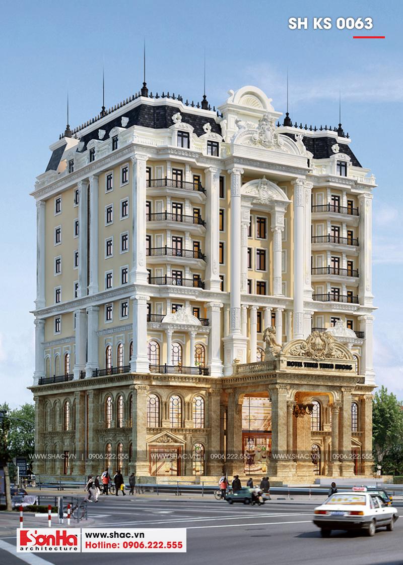 Mẫu thiết kế khách sạn tân cổ điển 4 sao tại An Giang điển hình thiết kế của năm