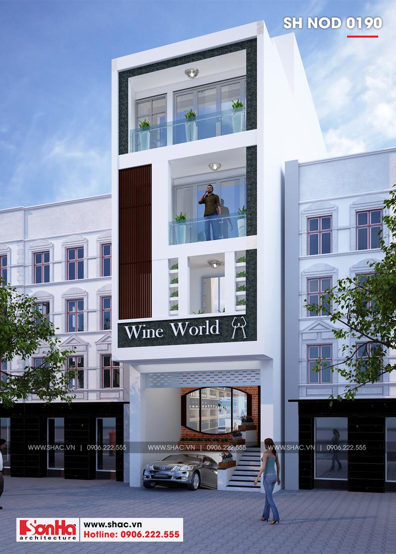 Mẫu mặt tiền nhà phố đẹp rộng 5m kết hợp kinh doanh thiết kế hiện đại tiện nghi