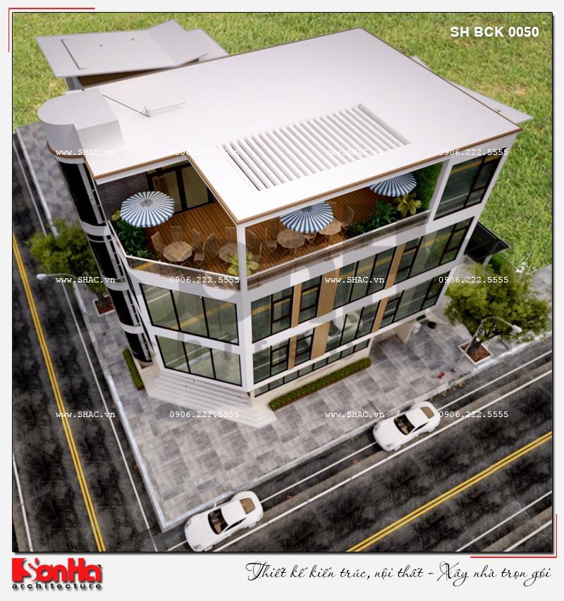 Thiết kế nhà hàng kiến trúc hiện đại 4 tầng nổi và 1 tầng hầm ở Bắc Ninh - SH BCK 0050 2