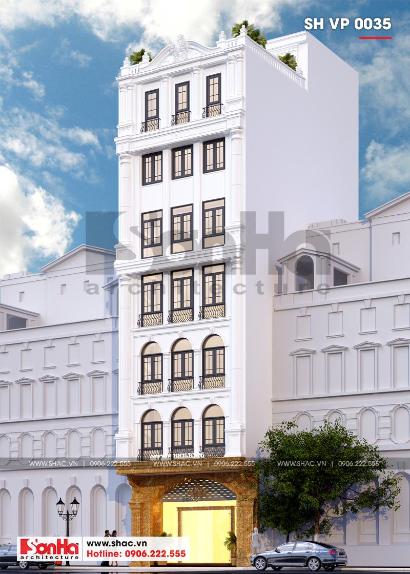 Thiết kế văn phòng cho thuê kiến trúc tân cổ điển tại Quảng Ninh - SH VP 0035 2