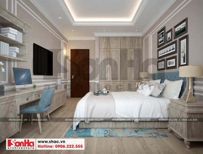 Thêm một thiết kế phòng ngủ tân cổ didenr đẹp mắt và trẻ trung được yêu thích