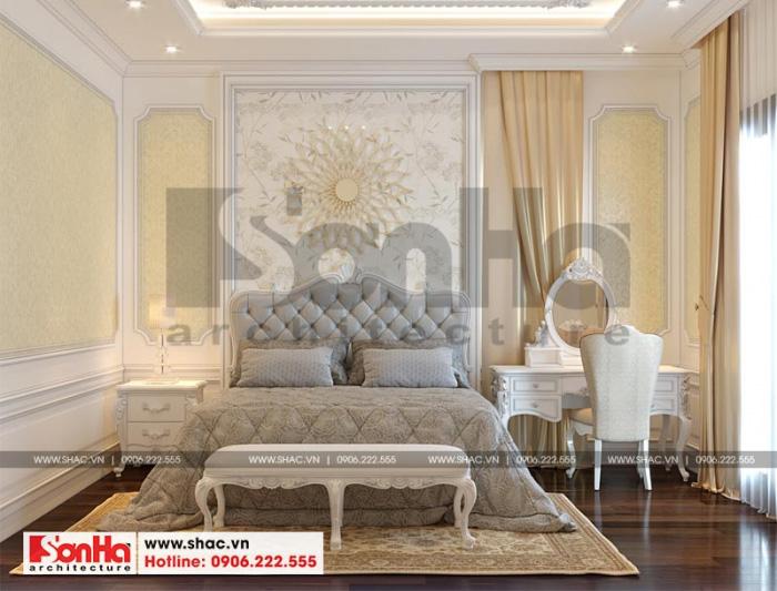 Choáng ngợp trước không gian nội thất phòng ngủ tân cổ điển có các họa tiết trang trí tinh tế và bắt mắt