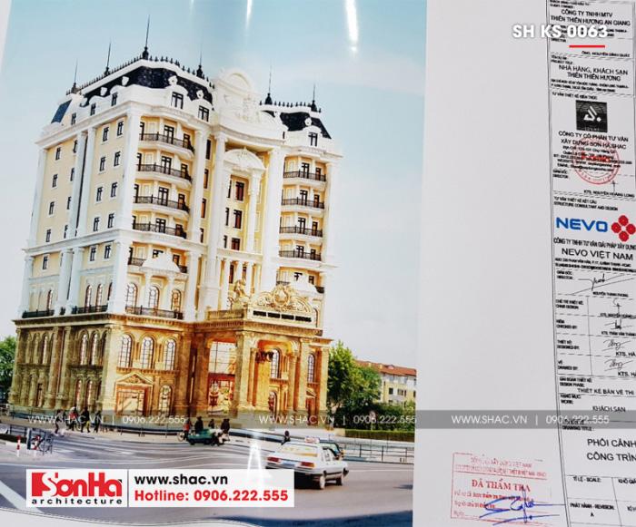 Một ví dụ về khung tên bản vẽ thiết kế khách sạn
