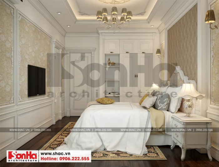 """Không gian phòng ngủ biệt thự tân cổ điển tại Quảng Ninh khiến bất kỳ ai cũng có thể bị """"mê hoặc"""""""