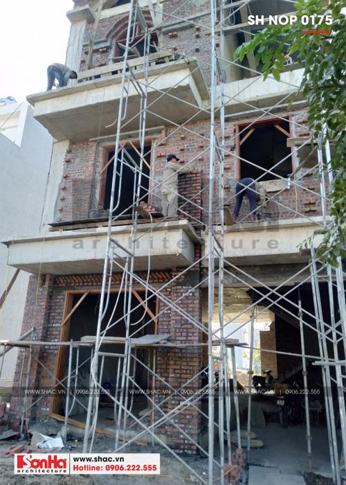2 Ảnh thi công kiến trúc nhà ống pháp 3 tầng tại hải phòng sh nop 0175