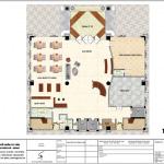 2 Mặt bằng công năng tầng trệt khách sạn tân cổ điển tại an giang sh ks 0063