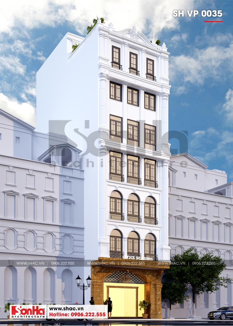 Thiết kế văn phòng cho thuê kiến trúc tân cổ điển tại Quảng Ninh - SH VP 0035 3