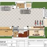 3 Mặt bằng công năng tầng hầm biệt thự mái thái 3 tầng tại quảng ninh sh btp 0127